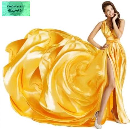 humour robe jaune