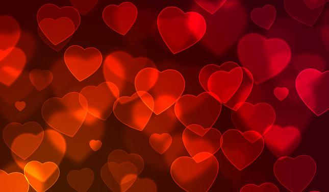 Fond cœur rouge